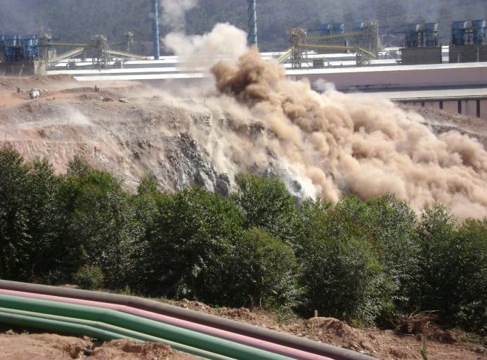 demolição explosivo